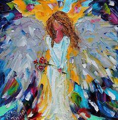 Impasto/Palette knife painting by Karen Tarlton Spectacular Angel