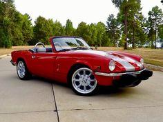 "Ricky's 1974 Triumph Spitfire ""Little Cayenne"" - AutoShrine Registry Convertible, Sony Speakers, Triumph Sports, Triumph Spitfire, Engine Types, Dream Garage, Hot Cars, Motor Car, Vintage Cars"