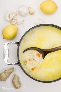 Recipe for a Delicious Winter Soup that Boosts Your Immune System - This Lemon Ginger Chicken Soup is packed with the goodness of garlic, ginger, lemon, and coconut milk. #recipe #healthyrecipes #soup