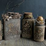 Dollar Store Crafts  » Blog Archive   » Make Recycled Witch's Apothecary Jars