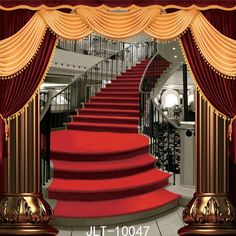 13.99$  Buy here - http://ali0q0.shopchina.info/1/go.php?t=32808025547 - SJOLOON wedding stage Photography Backdrops bent red carpet and stairs photo background thin vinyl  for photo studio props 8x8ft  #shopstyle