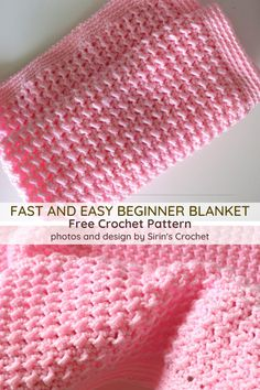 You're Reading Fast And Easy Crochet Baby Blanket For Beginners * sie lesen schnell und einfach häkeln babydecke für anfänger * vous lisez une couverture de bébé au crochet rapide et facile pour les débutants Crochet Baby Blanket Free Pattern, Baby Afghan Patterns, Crochet Baby Blanket Beginner, Hooked On Crochet, Crochet Blanket Stitches, Simple Crochet Blanket, Easy Beginner Crochet Patterns, Easy Baby Knitting Patterns, Dishcloth Crochet