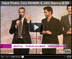 2012 GLAAD award winners in New York (plus video of Naya Rivera, Cory Monteith, John Stamos kiss auction)