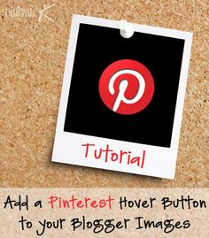 Pinterest Hover Button on Blogger