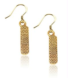 Band Aid Charm Earrings in Gold