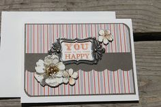 card by Michelle using CTMH Buzz and Bumble paper