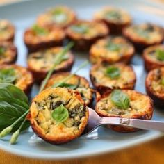 Crustless Zucchini and Basil Mini-Quiches