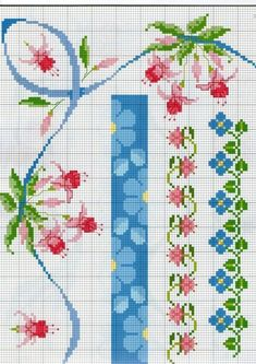 Tobin Forget Me not Stamped Tablecloth Embroidery Kit Cross Stitch Bookmarks, Cute Cross Stitch, Cross Stitch Rose, Cross Stitch Borders, Cross Stitch Flowers, Cross Stitch Designs, Cross Stitching, Cross Stitch Patterns, Ribbon Embroidery Tutorial