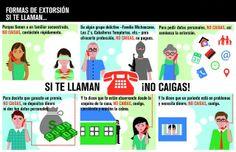 Evita ser víctima de una llamada de extorsión. #infografía