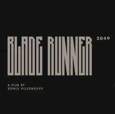 Blade Runner 2049, Harrison Ford, Illustrations And Posters, Typo, Cyberpunk, Graphic Design, Movies, Poster, Illustrations Posters