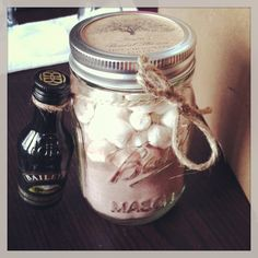 Hot chocolate and baileys favors;)
