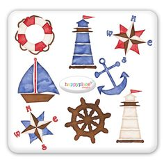 Nautical Clip Art for graphic design, Digital Scrapbooking, Invitation supplies. Commercial use clipart ok.