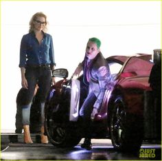 On set with The Joker and Harley Quinn #SuicideSquad #August2016 #JaredLeto #MargotRobbie