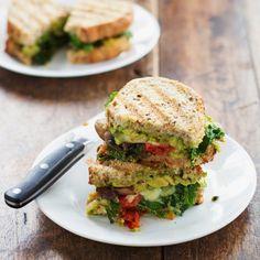 Avocado Veggie Panini - Healthy Breakfast Recipes: Vegetable Breakfasts - Shape Magazine