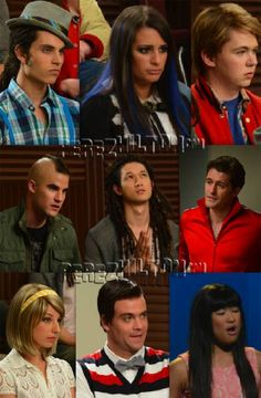Glee character swap. Darren you look pro. So excited for this episode