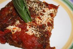 Vegan Eggplant Parmesan, I have to try this sometime.