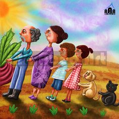"""SAVE FAMILY"" CHILD BOOK ILLUSTRATION  (Software : ADOBE PHOTOSHOPE)"