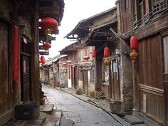 The Stone Road of Daxu Village, Guilin, Guangxi, China