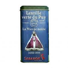 """Boîte Collection Lentille verte du Puy A.O.P. 500g """"Edition limitée"""" Sabarot"""