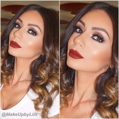 Super Makeup Party Red Lips Smokey Ey - Makeup İdeas For Homecoming Grey Eye Makeup, Rose Gold Makeup, Red Lip Makeup, Gray Eyeshadow, Nice Makeup, Makeup Inspo, Makeup Ideas, Dramatic Wedding Makeup, Bridal Makeup Looks