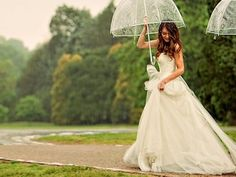 wedding day rain .
