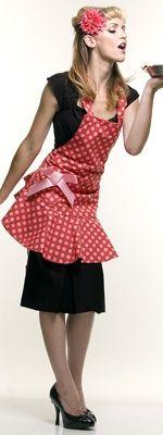 Jessie Steele Vintage Style Red w/Pink Polka Dots Pott Mitt