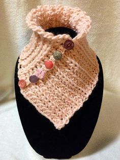 Hand Crocheted Pink Neck Cowl-Scarf-Warmer. 100% by TwistedTatters