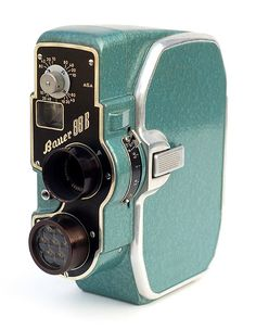 The Bauer 88B, made in Germany c1954.  It likes 8mm spool film, good conversation, and long walks on the beach <3 | via John Kratz on Flickr #Vintage #Camera