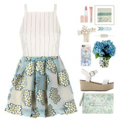 """""""Baby Blue Eyes"""" by donut-care ❤ liked on Polyvore featuring RED Valentino, Topshop, Steve Madden, Casetify, Wedding Belles New York, Designs by Lauren, Rimmel, Burberry, pastel and fresh"""