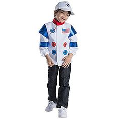 Kids Astronaut Role Play Set Costume By Dress Up America Ages 36 * To view additionally for this item, see the image link. (This is an affiliate link). Toddler Costumes, Children Costumes, Pretend Play, Role Play, Halloween Party, Halloween Costumes, Astronaut Suit, Costume Dress, Rain Jacket