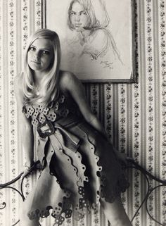 France Gall and portrait. 1968