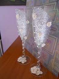 Resultado de imagen para copas decoradas porcelana fria