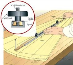 Router Trammel Jig Plans - Router Tips, Jigs and Fixtures - Woodwork, Woodworking, Woodworking Tips, Woodworking Techniques