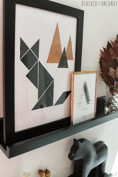 tangram fox/cat by BlackCottonCandy