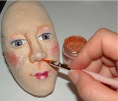 The Best Free Crafts Articles: Cloth Over Clay Method Doll Making Tip From Rivkah Mizrahi of Doll Makers Muse