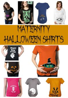 20+ Maternity Halloween Shirts - show off your bump this Halloween with these cute and creepy Halloween shirts for pregnant moms