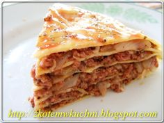 Lazania białkowa z Patelni - Dukan Lasagna, Bread, Cooking, Ethnic Recipes, Fit, Kitchens, Kitchen, Shape, Brot