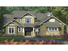 Home Plan HOMEPW77154 is a gorgeous 2494 sq ft, 2 story, 3 bedroom, 3 bathroom plan influenced by  Craftsman  style architecture.