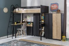 New York industriële tienerkamer, industriële kinderkamer, stoere meidenkamer, zwarte jongenskamer Bunk Bed Sets, Apartment Balcony Decorating, Bunk Rooms, Interior Decorating Styles, Shared Bedrooms, My Furniture, Small Living Rooms, New Room, Girl Room