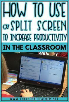 How to Use a Split Screen to Increase Productivity in the classroom using Chromebooks, laptops, computers or iPads. How to Use a Split Screen to Increase Productivity in the classroom using Chromebooks, laptops, computers or iPads. Teaching Technology, Technology Integration, Educational Technology, Instructional Technology, Technology Tools, Instructional Strategies, Futuristic Technology, Technology Lessons, Educational Toys