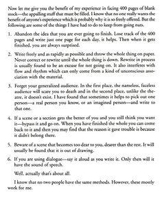 Steinbeck's Advice on Writing