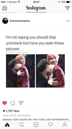 i'm not saying you should ship yoonseok but that's exactly what i'm saying