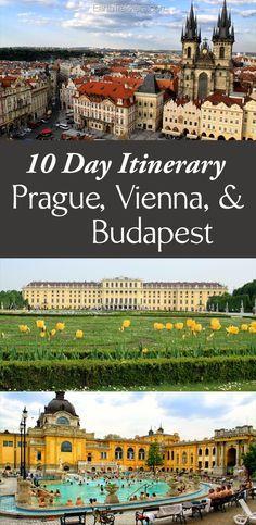 10 Day Itinerary: Prague, Vienna, & Budapest with a side trip to Cesky Krumlov.