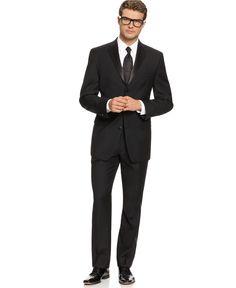 Calvin Klein Suit, Black Tuxedo - Mens Suits & Suit Separates - Macy's