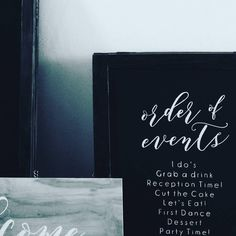Wedding Order of Events Chalkboard  #weddingsignage #orderofevents #chalkboard #weddingceremony