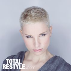 The Ultimate Minimalist - Super short hair with masses of texture..