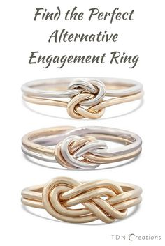 Finding the perfect alternative engagement ring is a task you want to do on your own. But allow us to present you beautiful gold knot rings as an alternative to traditional diamond engagement rings. Knot rings had always been a symbol of love, relationships, and commitment. These rings are simple and elegant, she will love it!