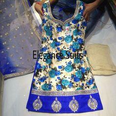 Blue Floral Salwar Kameez