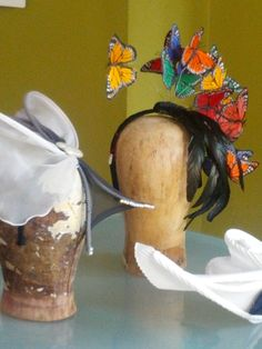 You can rock a butterfly fascinator at the upcoming Flower Show!