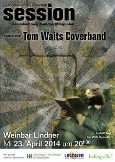 """Die Session des jazzkaffee schwaz in der Weinbar Lindner mit der Band """"Tom Waits Coverband""""."""